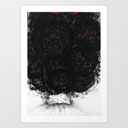 Monsters in your head Art Print