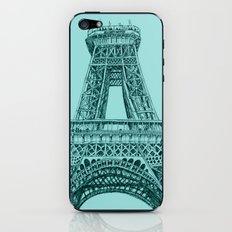 Paris in Teal iPhone & iPod Skin