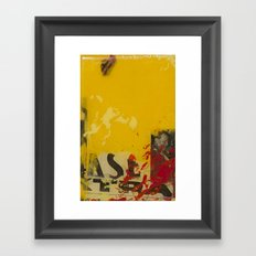 YELLOW3 Framed Art Print