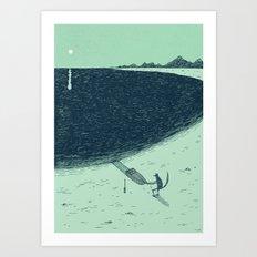 'Beach' (Colour) Art Print