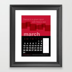 2013 Pigment to Pantone Calendar – MARCH Framed Art Print