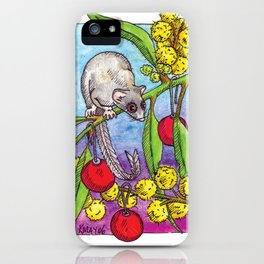Christmas Feather Glider iPhone Case