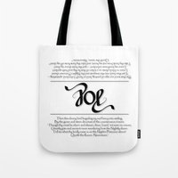edgar allen poe Tote Bags featuring POE by Vineeth G Nair