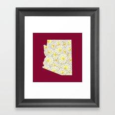 Arizona in Flowers Framed Art Print