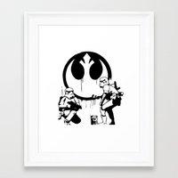 banksy Framed Art Prints featuring Banksy Troopers by Don Calamari