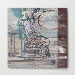 Human Chain Metal Print