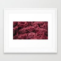 moulin rouge Framed Art Prints featuring Rouge by Zayda Barros