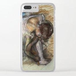 Edgar Degas - Dancer Adjusting Her Shoe Clear iPhone Case