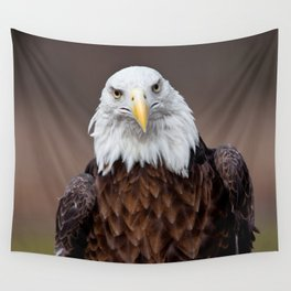 Bald Eagle Face Wall Tapestry