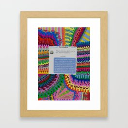 Hairline- Put Him In His Place Project Framed Art Print