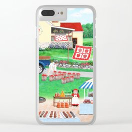 Aunt Abby's Apples Clear iPhone Case
