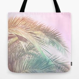 Wild palm leaves Nostalgia Tote Bag