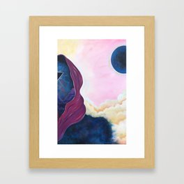 When Worlds Collide I Framed Art Print