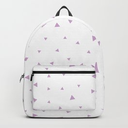 Lavender Purple Triangle Pattern Backpack