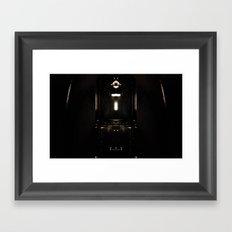 it's not totally dark Framed Art Print