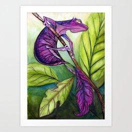 Satanic Leaf-Tailed Gecko Art Print