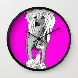 Sassy Chinese Crested Wall Clock