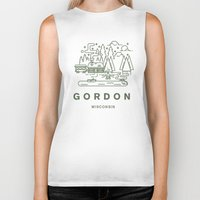 wisconsin Biker Tanks featuring Gordon Wisconsin  by coltgriffithdesign
