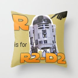 R is for... Throw Pillow