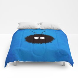 Blue Cute Dazzled Bug Comforters