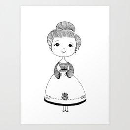 Little Lady Art Print