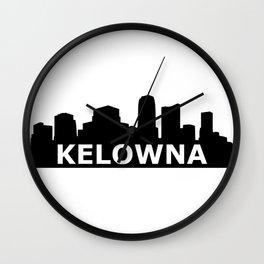 Kelowna Skyline Wall Clock