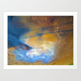 Sky in a puddle... Art Print
