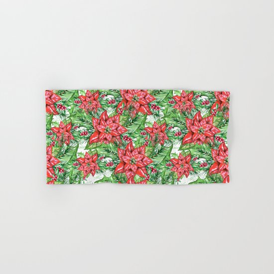 Poinsettia Hand & Bath Towel