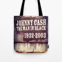 johnny cash Tote Bags featuring Johnny Cash by Dan99