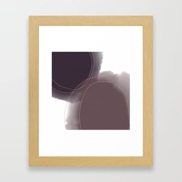 Purple Watercolor Blobs Framed Art Print