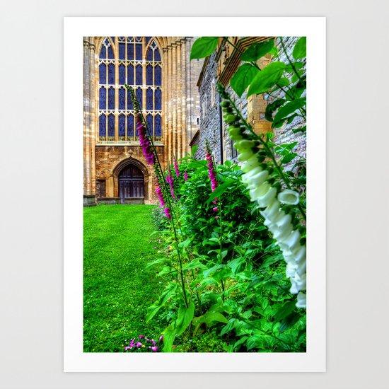 Tewksbury Abbey Art Print