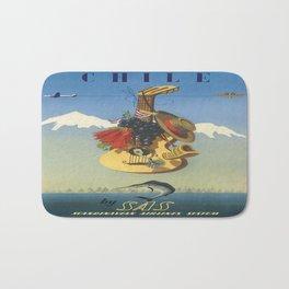 Vintage poster - Chile Bath Mat