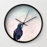 boss Wall Clocks featuring Boss by Claudia Drossert
