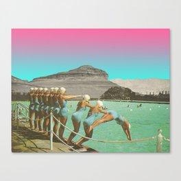 syn·chro·nize Canvas Print