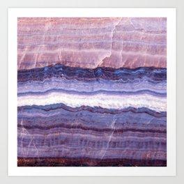 Azul marble Art Print
