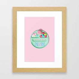 Treat Yourself Framed Art Print