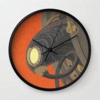 bioshock Wall Clocks featuring SongBird - BioShock Infinite by LindseyCowley