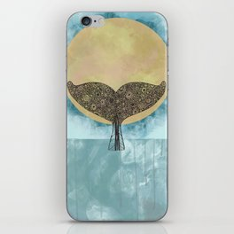 Sunset Whale iPhone Skin