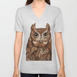 Screech Owl Unisex V-Neck