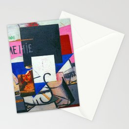 Kazimir Malevich Composition with Mona Lisa Stationery Cards