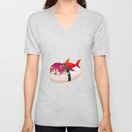 Chibi Shark Sushi Unisex V-Neck