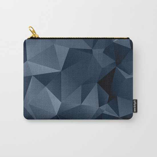Black and blue polygonal pattern . Carry-All Pouch