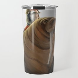 Winter Gnome on Walrus Travel Mug