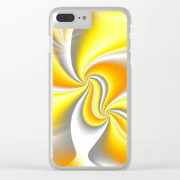 Turn Around (yellow) Clear iPhone Case
