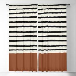 Burnt Orange x Stripes Blackout Curtain