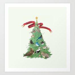 The Twelve Birds of Christmas Art Print