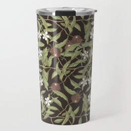 Autumn berries and flowers rich pattern Travel Mug