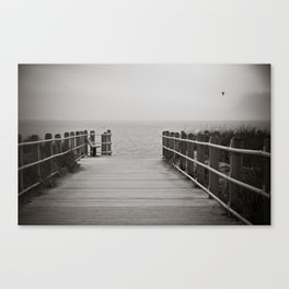 Lonely Beach Day Canvas Print