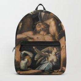 Abraham Bloemaert - Apollo and Diana Punishing Niobe by Killing her Children (1591) Backpack