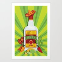 tequila Art Prints featuring Tequila Time by Matt Andrews